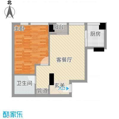常青藤单身公寓户型1室1厅