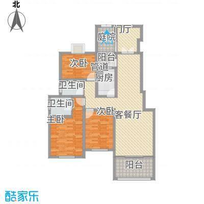 香梅假日花园三期143.00㎡户型3室2厅2卫1厨