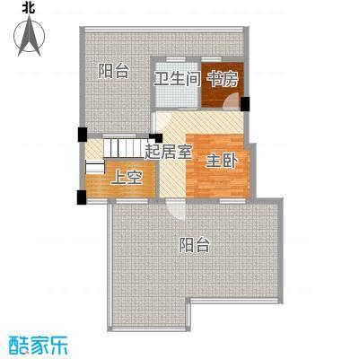 君悦龙庭135.00㎡B跃层二层户型2室1卫