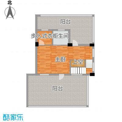 君悦龙庭142.00㎡A跃层二层户型1室1卫