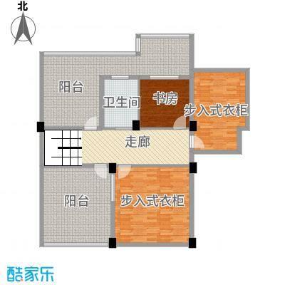 君悦龙庭168.00㎡C跃层二层户型1室1厅1卫