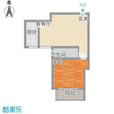 奥运城78.00㎡小公寓户型1室2厅1卫1厨