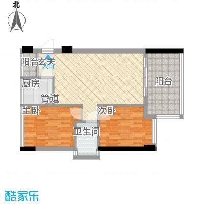 水榭名都户型2室