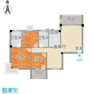 祥和雅筑124.00㎡方户型3室2厅2卫1厨