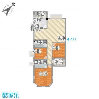 祥和雅筑125.00㎡方户型3室2厅2卫1厨