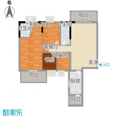惠州蓝湾半岛142.77㎡A户型4室2厅2卫