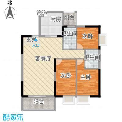 海志公园道一号18.40㎡户型3室2厅2卫