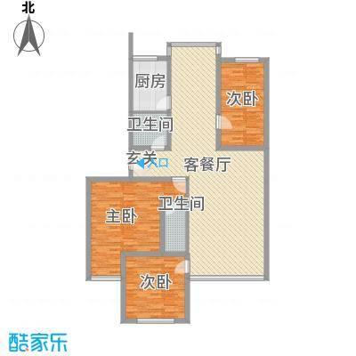 博泰公寓户型3室2厅2卫1厨