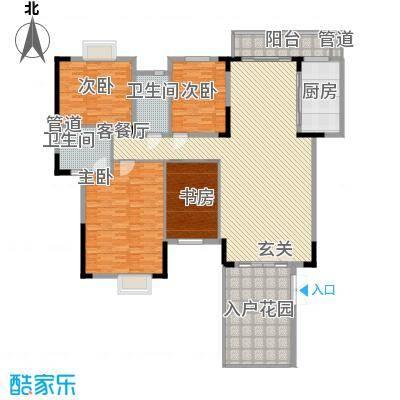 华建半岛豪庭235.70㎡户型4室