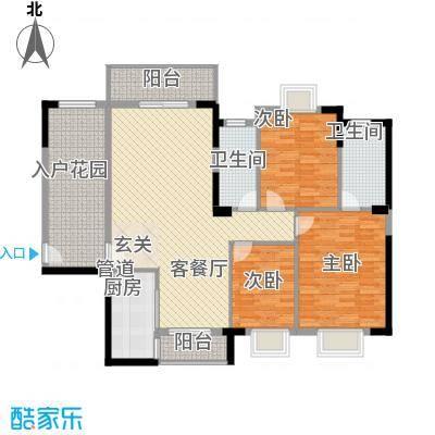 鸿福苑户型3室