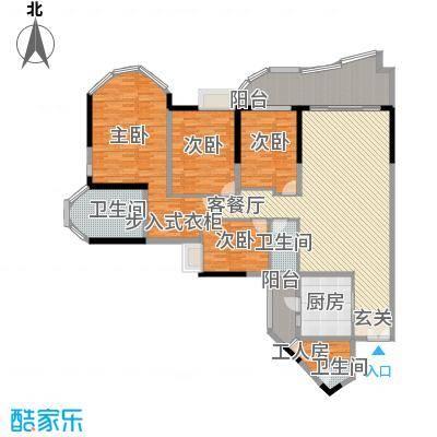 珠江帝景苑克莱国际公寓25.00㎡户型5室2厅2卫1厨