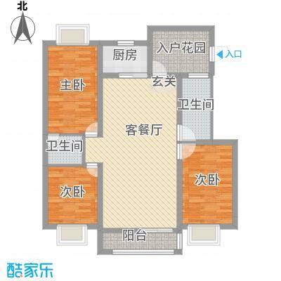 华润广场117.00㎡户型3室
