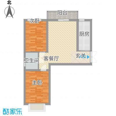 青云景苑1.50㎡8#户型2室2厅1卫1厨