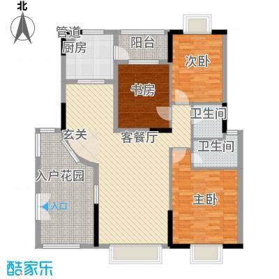 响水明苑138.70㎡精英户型3室2厅2卫1厨