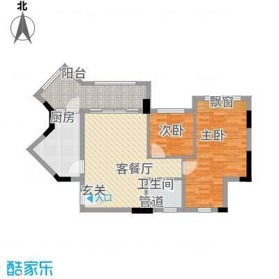富丽苑户型2室2厅1卫1厨
