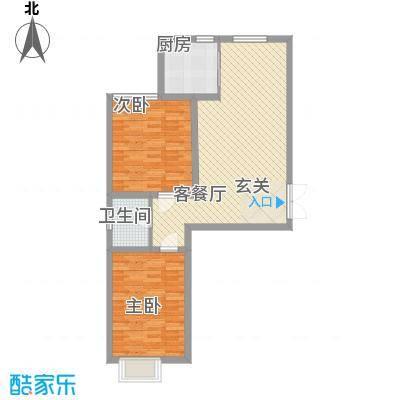 青云景苑11.31㎡6#户型2室2厅1卫1厨