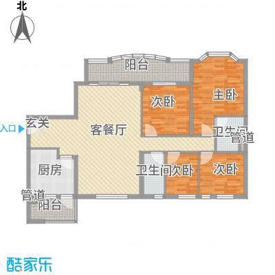 祈福新村天湖居144.00㎡户型4室
