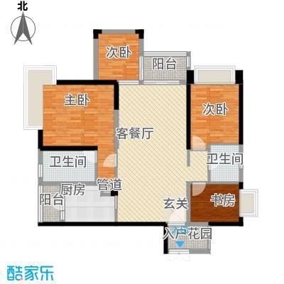 现代华庭117.00㎡户型3室