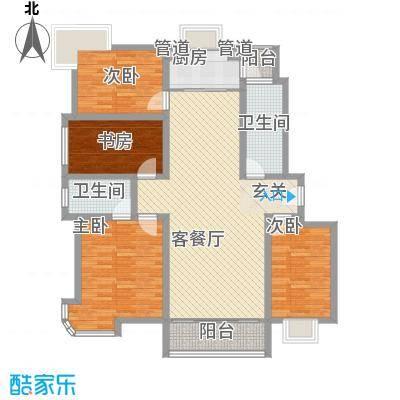 银河花园152.60㎡户型4室2厅2卫1厨