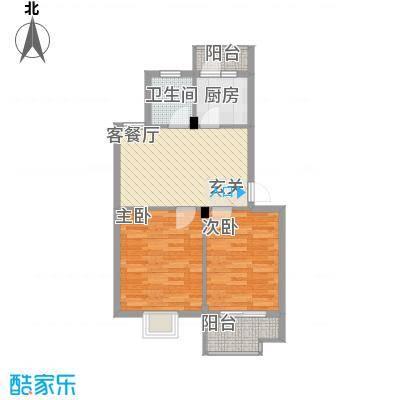 东裕新村四期65.00㎡户型2室2厅1卫1厨