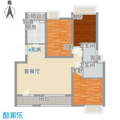 东裕新村四期户型2室1厅1卫1厨