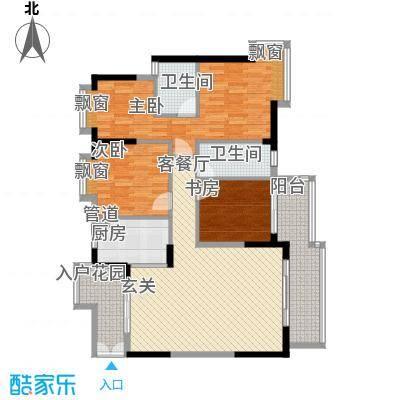 祥圣华苑11.62㎡1栋1单元A1户型3室2厅2卫1厨