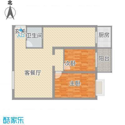 天和学府苑12.58㎡G户型2室2厅1卫