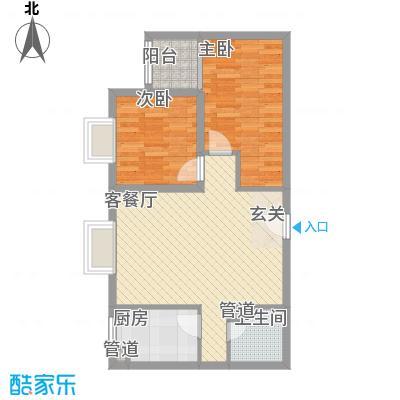 御龙庭77.14㎡太原户型