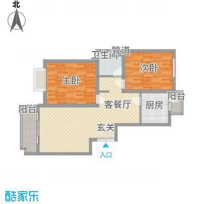瑞格上海时代广场户型2室