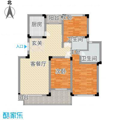 瑞格上海时代广场户型3室