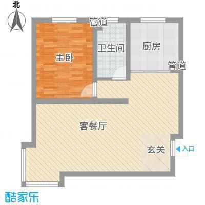山景明珠花园87.00㎡14号楼4户型3室