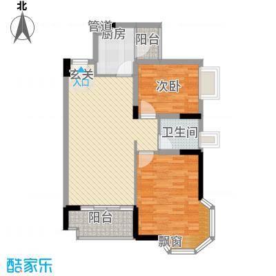 水木清晖园户型2室