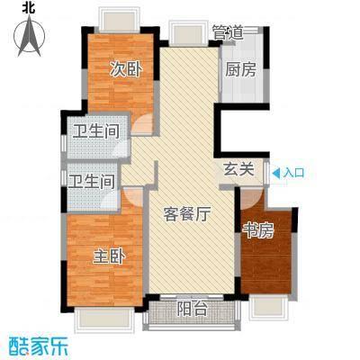金鑫家园123.10㎡F1户型3室2厅2卫1厨