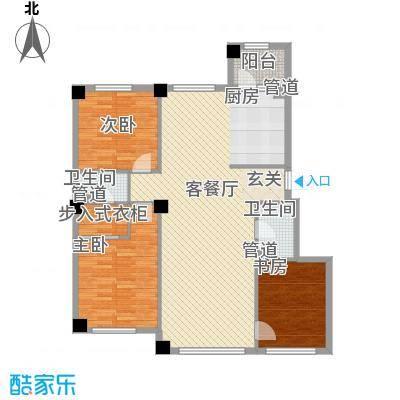 米兰D.C136.00㎡米兰DC2户型2室2厅2卫1厨