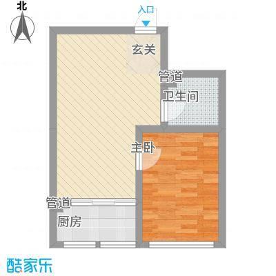 明湖天地K1户型1室