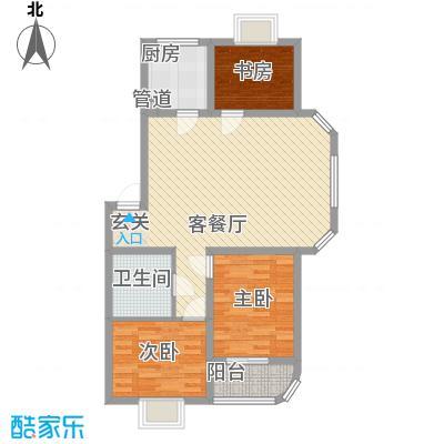 薄荷花苑二期红域明珠D户型2室1厅1卫