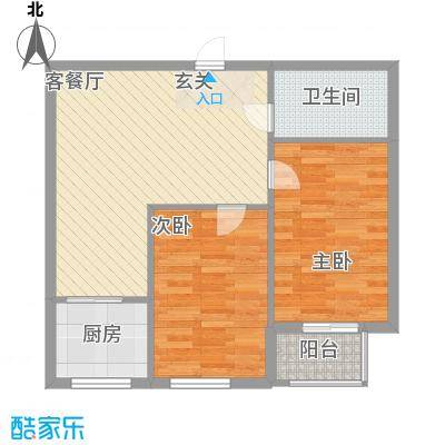 圣韬万福居81.58㎡户型2室