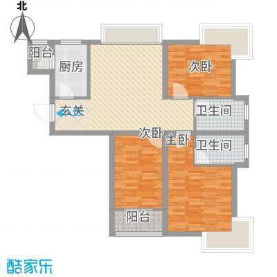 龙辉花园20户型3室2厅2卫1厨
