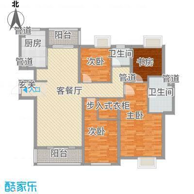 世茂世界湾172.00㎡二期C3户型4室2厅2卫1厨