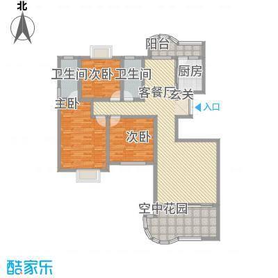 现代逸城161.40㎡11/12号楼1/2单元奇数层户型3室2厅2卫1厨