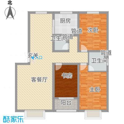 红警里117.00㎡户型3室