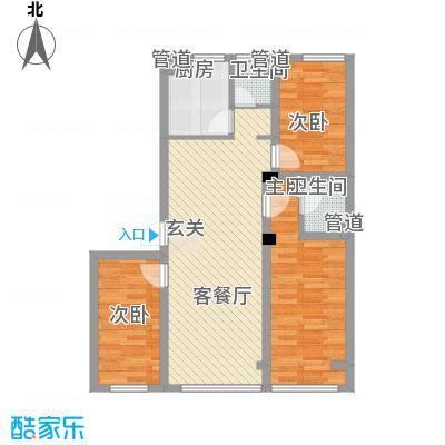 金盾未来花园户型2室