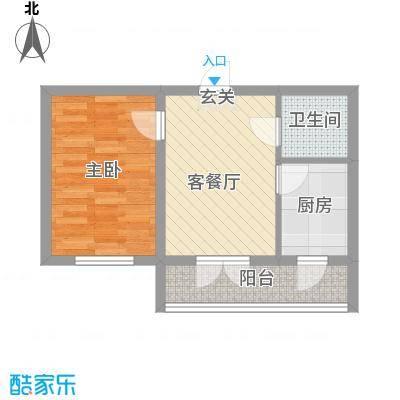 华远・龙湾37.38㎡B户型1室1厅1卫1厨