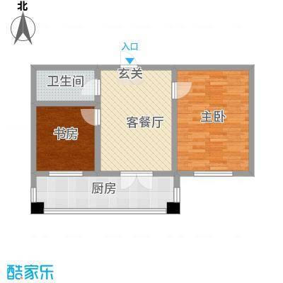 华远・龙湾46.25㎡C户型2室1厅1卫1厨