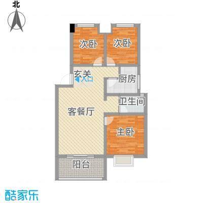 阳光花园115.00㎡户型3室2厅1卫1厨