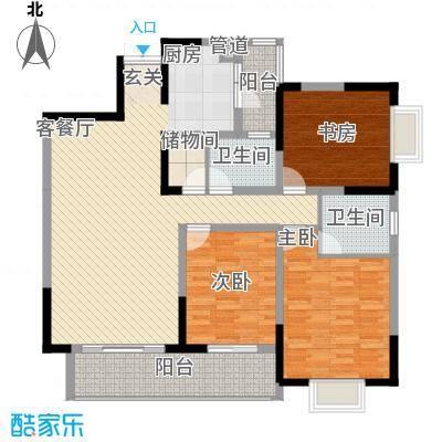 上海城111.00㎡户型3室