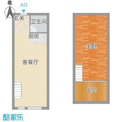 星城国际6.00㎡D户型1室1厅1卫