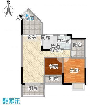 盛天龙湾86.55㎡1#、2#-02、03户型2室2厅2卫1厨