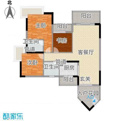 盛天龙湾125.46㎡精品2户型3室2厅2卫1厨