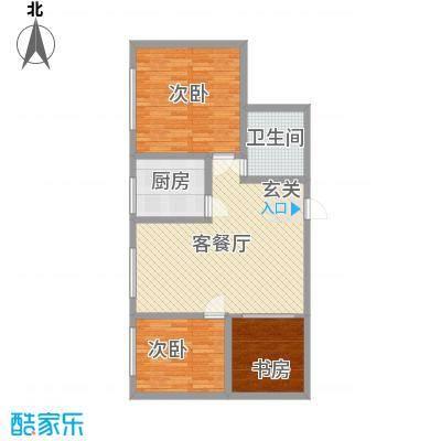 泰伦特酒店商务公寓7.63㎡A2户型3室2厅1卫